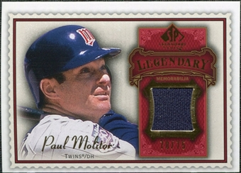 2009 Upper Deck SP Legendary Cuts Legendary Memorabilia Red #PM2 Paul Molitor /75