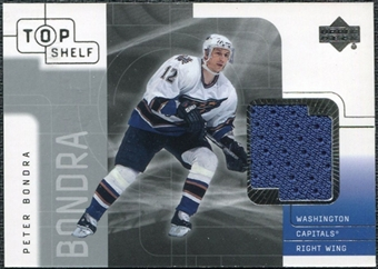 2001/02 Upper Deck UD Top Shelf Jerseys #PB Peter Bondra
