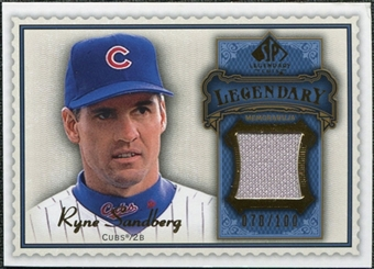 2009 Upper Deck SP Legendary Cuts Legendary Memorabilia Blue #RS2 Ryne Sandberg /100