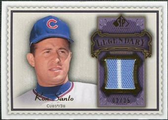2009 Upper Deck SP Legendary Cuts Legendary Memorabilia Violet #SA Ron Santo /25