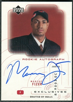 2000/01 Upper Deck SPx UD Authentics Rookie Exclusives #MF Marcus Fizer Autograph