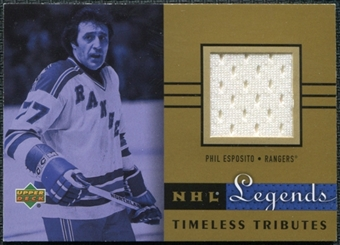 2001/02 Upper Deck Legends Jerseys #TTPE Phil Esposito
