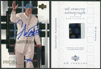 2000/01 Upper Deck UD Reserve BuyBacks #1 Courtney Alexander 00-1P&PPM Autograph /98