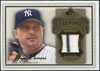 2009 SP Legendary Cuts Legendary Memorabilia Brown #RO Roger Clemens /50