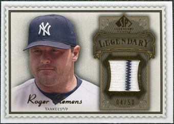 2009 SP Legendary Cuts Legendary Memorabilia Brown #RO2 Roger Clemens /50