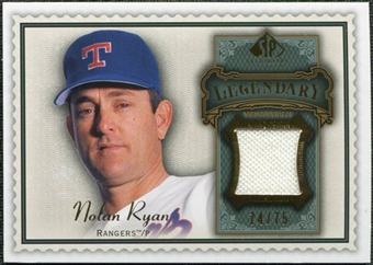 2009 SP Legendary Cuts Legendary Memorabilia Green #NR Nolan Ryan /75