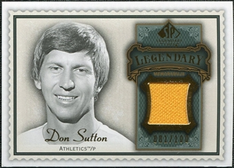 2009 SP Legendary Cuts Legendary Memorabilia Green #DS2 Don Sutton /100