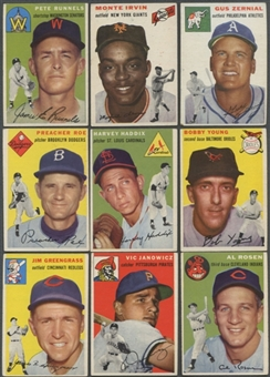 1954 Topps Baseball Lot of 53 Cards (46 Different) VG-EX
