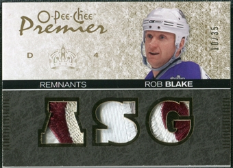 2007/08 Upper Deck OPC Premier Remnants Triples Patches #PRBL Rob Blake /35