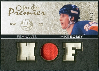 2007/08 Upper Deck OPC Premier Remnants Triples Patches #PRBO Mike Bossy /35