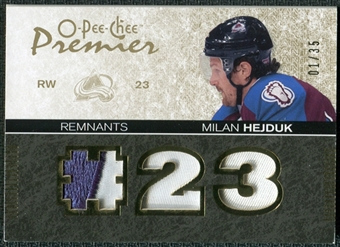 2007/08 Upper Deck OPC Premier Remnants Triples Patches #PRHM Milan Hejduk /35