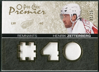 2007/08 Upper Deck OPC Premier Remnants Triples Patches #PRHZ Henrik Zetterberg /35