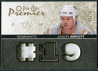 2007/08 Upper Deck OPC Premier Remnants Triples Patches #PRJA Jason Arnott /35