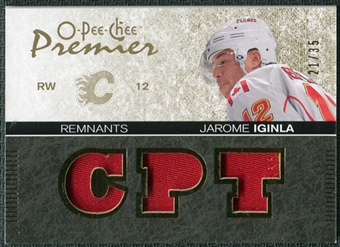 2007/08 Upper Deck OPC Premier Remnants Triples Patches #PRJI Jarome Iginla /35