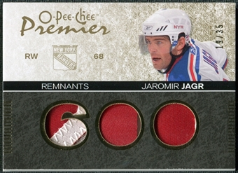 2007/08 Upper Deck OPC Premier Remnants Triples Patches #PRJJ Jaromir Jagr /35