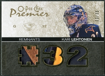 2007/08 Upper Deck OPC Premier Remnants Triples Patches #PRKL Kari Lehtonen /35