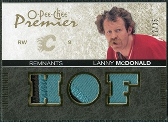 2007/08 Upper Deck OPC Premier Remnants Triples Patches #PRLM Lanny McDonald /35