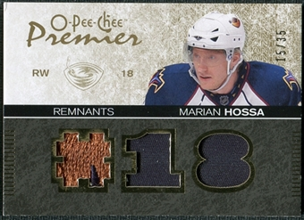 2007/08 Upper Deck OPC Premier Remnants Triples Patches #PRMH Marian Hossa /35