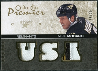 2007/08 Upper Deck OPC Premier Remnants Triples Patches #PRMM Mike Modano /35
