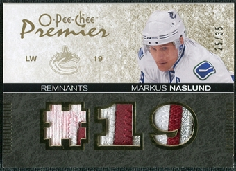 2007/08 Upper Deck OPC Premier Remnants Triples Patches #PRMN Markus Naslund /35