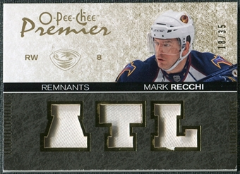 2007/08 Upper Deck OPC Premier Remnants Triples Patches #PRMR Mark Recchi /35
