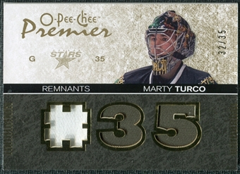 2007/08 Upper Deck OPC Premier Remnants Triples Patches #PRMT Marty Turco /35
