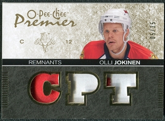 2007/08 Upper Deck OPC Premier Remnants Triples Patches #PROJ Olli Jokinen /35