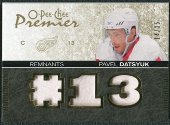 2007/08 Upper Deck OPC Premier Remnants Triples Patches #PRPD Pavel Datsyuk /35
