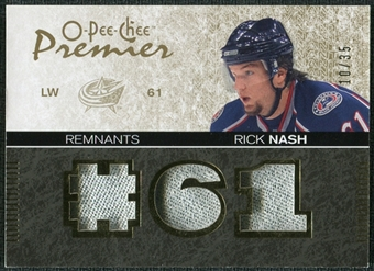 2007/08 Upper Deck OPC Premier Remnants Triples Patches #PRRN Rick Nash /35