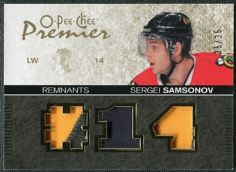 2007/08 Upper Deck OPC Premier Remnants Triples Patches #PRSE Sergei Samsonov /35