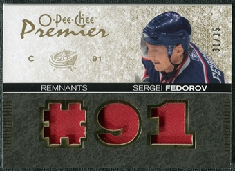 2007/08 Upper Deck OPC Premier Remnants Triples Patches #PRSF Sergei Fedorov /35