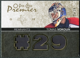 2007/08 Upper Deck OPC Premier Remnants Triples Patches #PRTV Tomas Vokoun /35