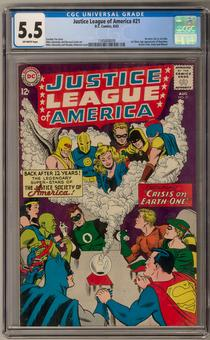 Justice League of America #21 CGC 5.5 (OW) *1345808009*