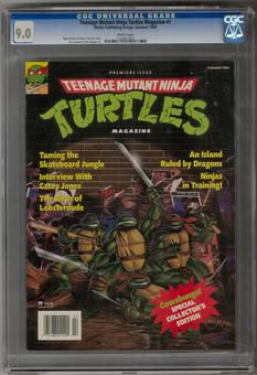 Teenage Mutant Ninja Turtles Magazine #1 CGC 9.0 (W) *1345831004*