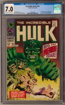 Incredible Hulk #102 CGC 7.0 (OW-W) *1345853003*
