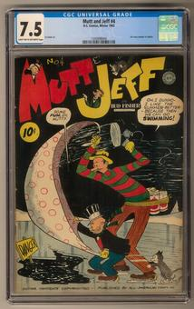Mutt and Jeff #4 CGC 7.5 (LT-OW) *1345898004*