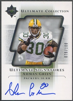 2004 Ultimate Collection #USAG Ahman Green Ultimate Signatures Auto #079/100