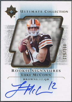 2004 Ultimate Collection #113 Luke McCown Rookie Auto #115/250