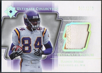 2004 Ultimate Collection #UPRM Randy Moss Game Jersey Patch #001/150