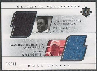 2004 Ultimate Collection #VM Michael Vick & Mark Brunell Game Jersey Duals #75/99