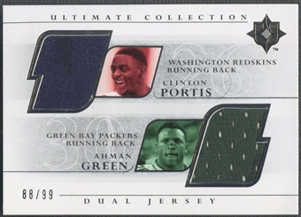 2004 Ultimate Collection #PG Clinton Portis & Ahman Green Game Jersey Duals #88/99