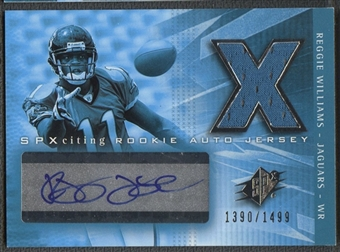 2004 SPx #209 Reggie Williams Rookie Jersey Auto #1390/1499