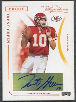2004 Playoff Prime Signatures #50 Trent Green Signature Proofs Bronze Auto #79/89