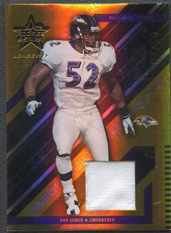 2004 Leaf Rookies and Stars Longevity #10 Ray Lewis Materials Gold Jersey #03/50