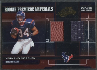 2005 Absolute Memorabilia #233 Vernand Morency Rookie Ball Jersey #552/750