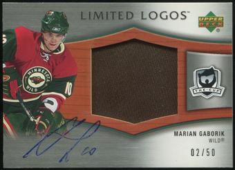 2005/06 Upper Deck The Cup Limited Logos #LLMG Marian Gaborik Autograph Patch 2/50