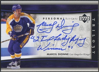 2005/06 Upper Deck Trilogy #PERMD Marcel Dionne Personal Scripts Auto