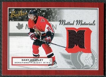 2005/06 Upper Deck Beehive Matted Materials #MMDH Dany Heatley