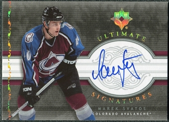 2006/07 Upper Deck Ultimate Collection Signatures #USMS Marek Svatos Autograph