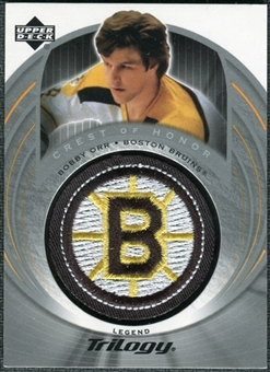 2003/04 Upper Deck Trilogy #138 Bobby Orr Crest Of Honor COH Patch